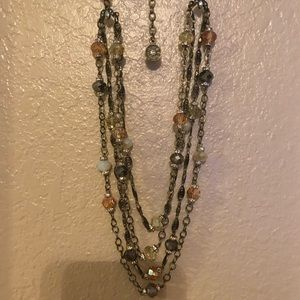 Sweet Romance Iridescent Beaded Necklace- NWOT